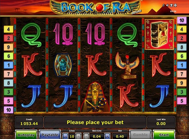 book of ra deluxe spelu automats